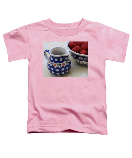 Raspberries With Cream Toddler T-Shirt