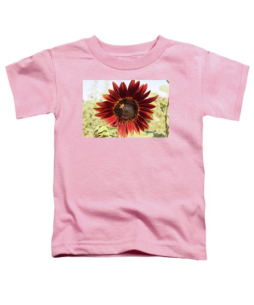 Red Sunflower And Bee Toddler T-Shirt
