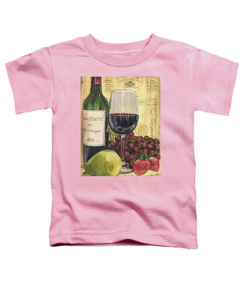 Red Wine And Pear Toddler T-Shirt