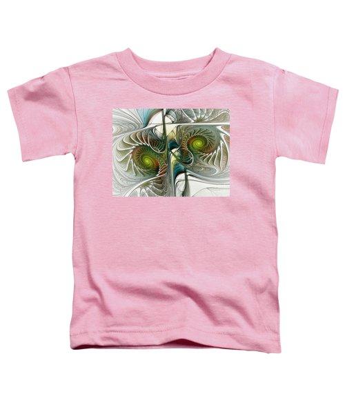 Reflected Spirals Fractal Art Toddler T-Shirt