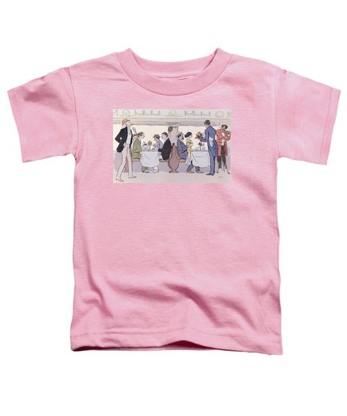 Restaurant Car In The Paris To Nice Train Toddler T-Shirt