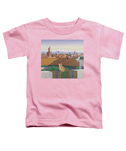 Rooftops In Marrakesh Toddler T-Shirt by Larry Smart