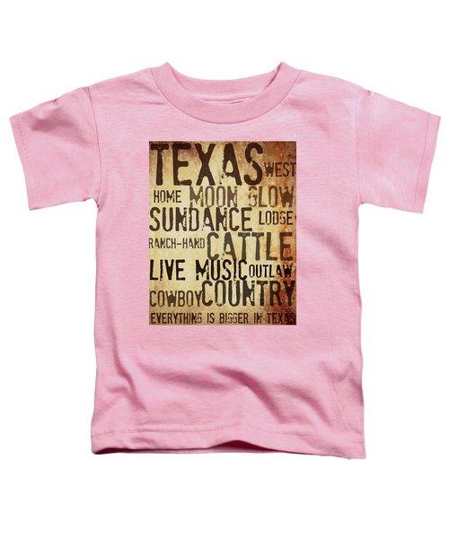 Rustic Texas Art Toddler T-Shirt