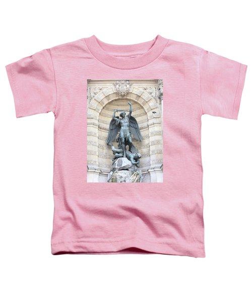 Saint Michael The Archangel In Paris Toddler T-Shirt
