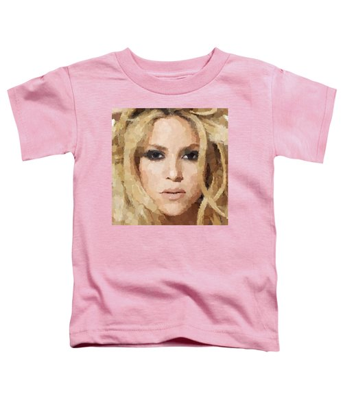 Shakira Portrait Toddler T-Shirt by Samuel Majcen