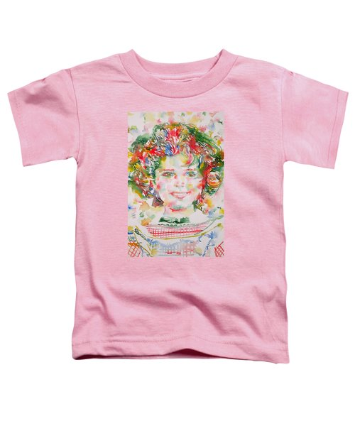 Shirley Temple - Watercolor Portrait.1 Toddler T-Shirt