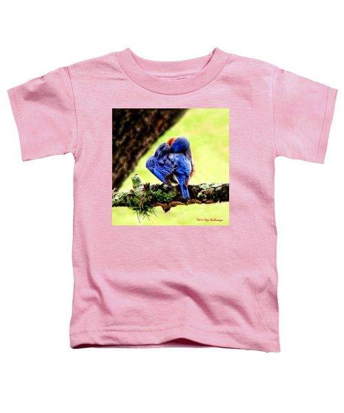 Sleepy Bluebird Toddler T-Shirt