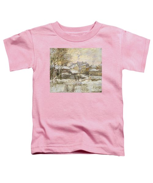 Snow Effect With Setting Sun Toddler T-Shirt