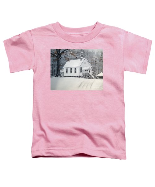 Snowy Gates Chapel  -little White Church - Ellijay Toddler T-Shirt