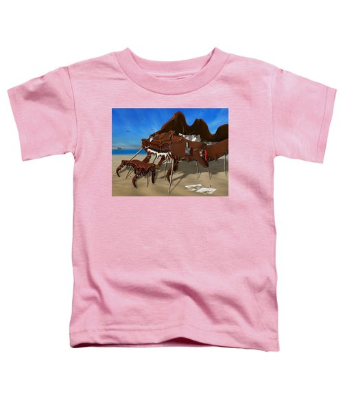 Soft Grand Piano With Camera - Panoramic Toddler T-Shirt