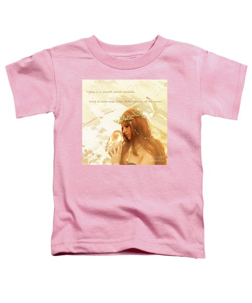 Sounds Of The Sea Toddler T-Shirt by Linda Lees