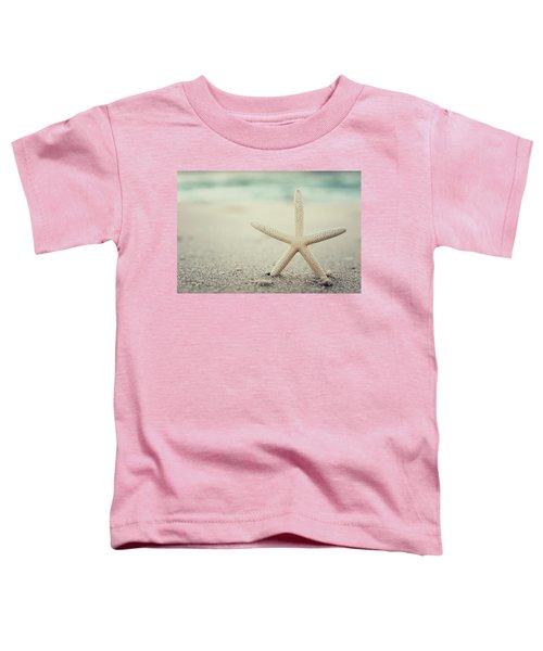 Starfish On Beach Vintage Seaside New Jersey  Toddler T-Shirt