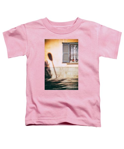 Toddler T-Shirt featuring the photograph Street Lamp Shadow And Window by Silvia Ganora