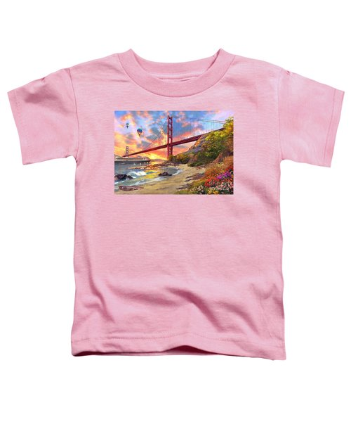 Sunset At Golden Gate Toddler T-Shirt