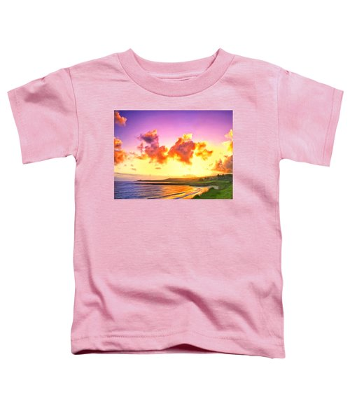 Sunset At Oneloa Beach Maui Toddler T-Shirt