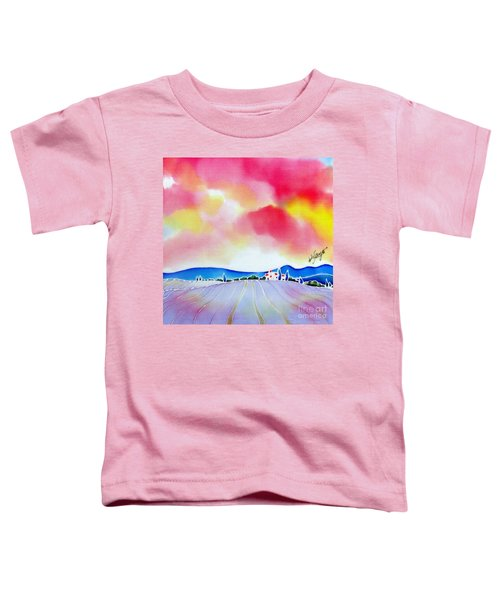 Sunset On The Lavender Farm  Toddler T-Shirt