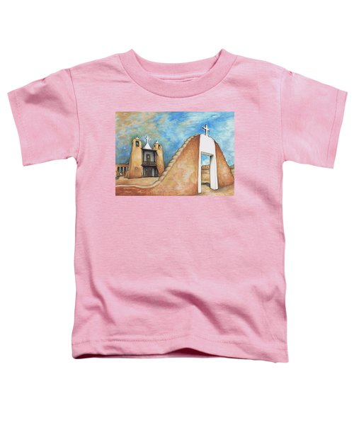 Taos Pueblo New Mexico - Watercolor Art Painting Toddler T-Shirt