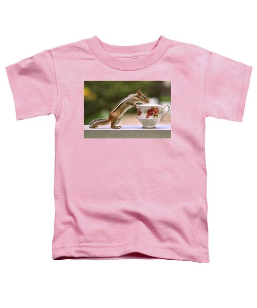 Tea Time With Chipmunk Toddler T-Shirt