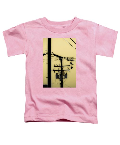 Telephone Pole And Sneakers 5 Toddler T-Shirt