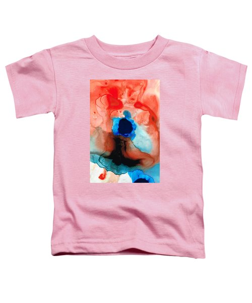 The Dancer - Abstract Red And Blue Art By Sharon Cummings Toddler T-Shirt