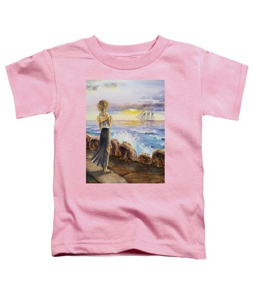 The Girl And The Ocean Toddler T-Shirt