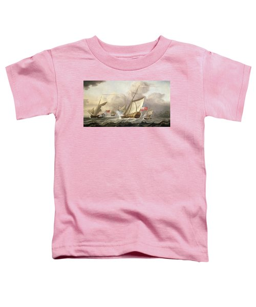 The Royal Yacht Mary Exchanging Salutes, 18th Century Toddler T-Shirt
