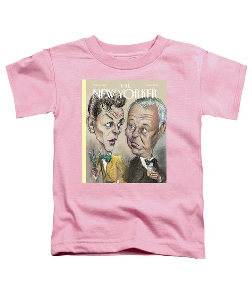 The Young Frank Sinatra Looking At The Old Frank Toddler T-Shirt