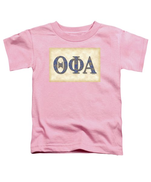 Theta Phi Alpha - Parchment Toddler T-Shirt by Stephen Younts