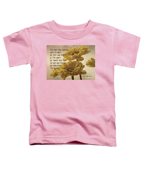 Thoughts Of Gratitude Toddler T-Shirt