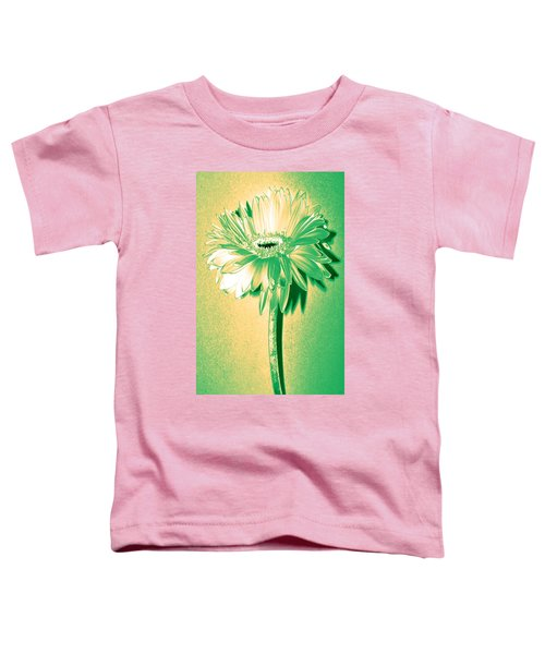 Touch Of Turquoise Zinnia Toddler T-Shirt by Sherry Allen