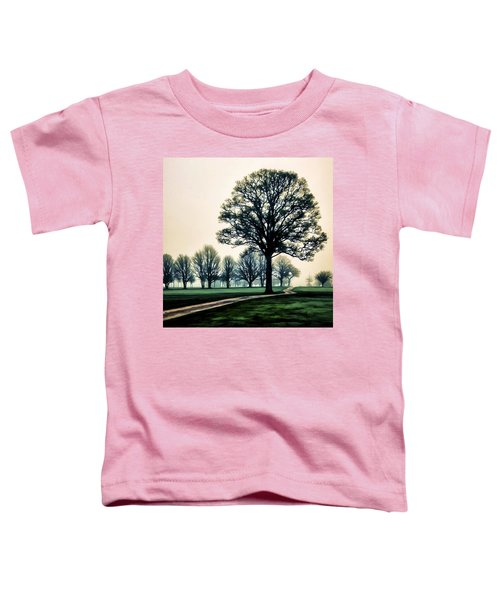 Tree At Dawn On Golf Course Toddler T-Shirt