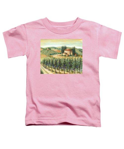 Tuscan Vineyard And Villa Toddler T-Shirt