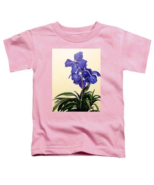 Vanda Sausai Blue Orchid Toddler T-Shirt