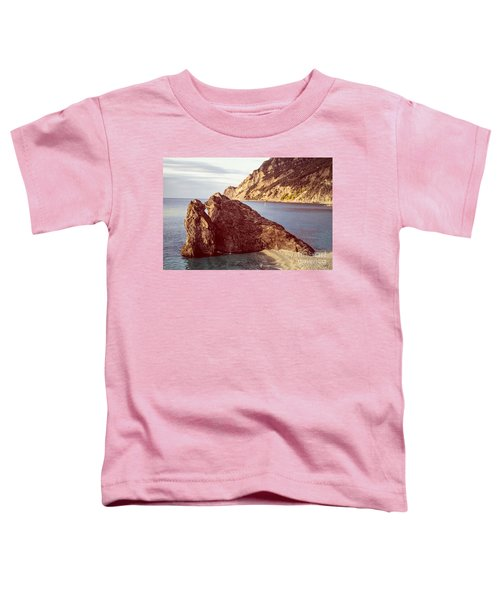 View From Beach Of Monterosso Toddler T-Shirt