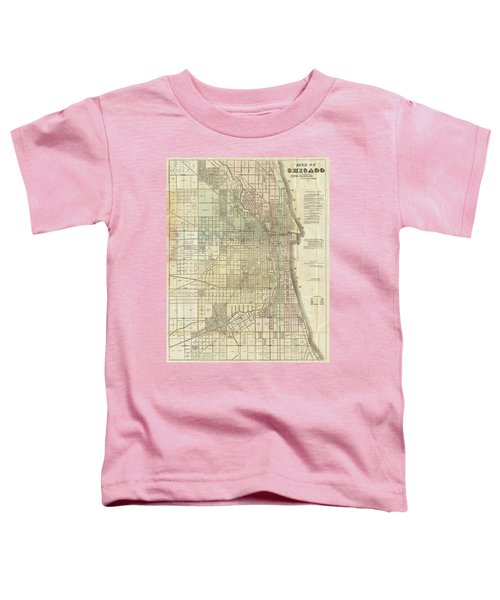 Vintage Map Of Chicago - 1857 Toddler T-Shirt
