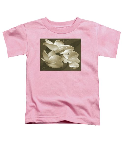 Vintage Plumeria Trio Toddler T-Shirt