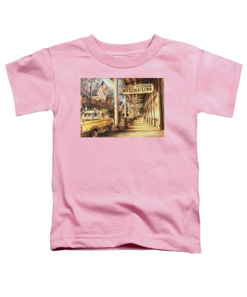 Virginia City Nevada - Western Art Painting Toddler T-Shirt