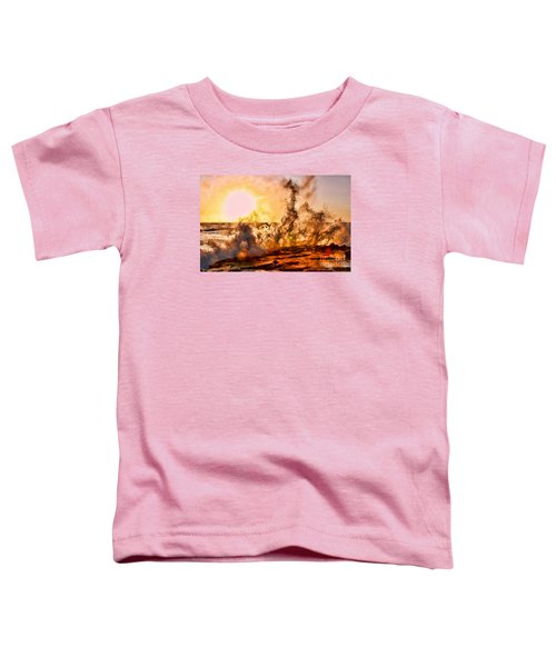 Wave Crasher La Jolla By Diana Sainz Toddler T-Shirt