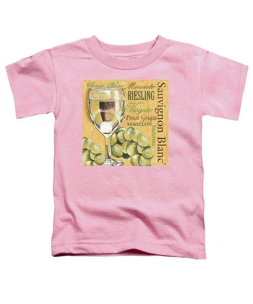 White Wine Text Toddler T-Shirt