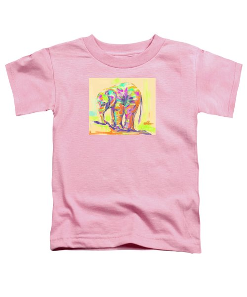 Toddler T-Shirt featuring the painting Wildlife Baby Elephant by Go Van Kampen