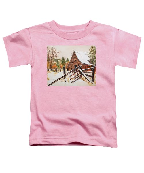 Winter - Barn - Snow In Nevada Toddler T-Shirt