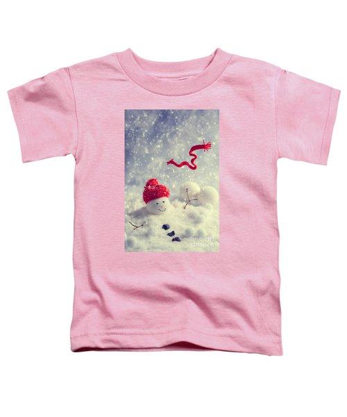 Winter Snowman Toddler T-Shirt