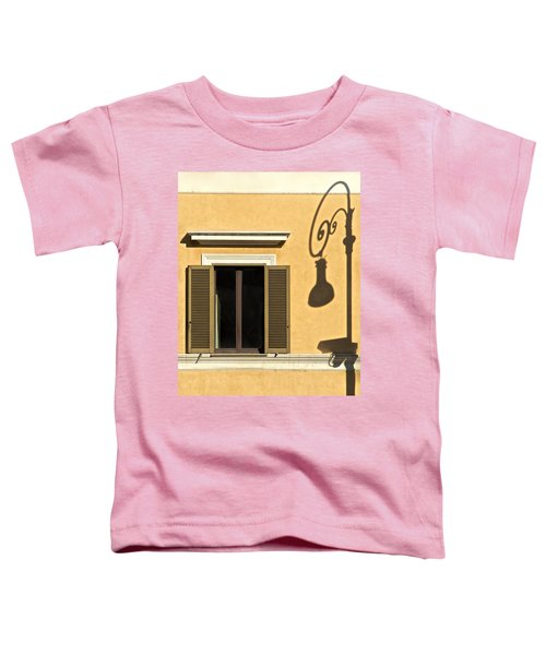 Wrought Iron Street Lamp Shadow Of Ancient Rome Toddler T-Shirt