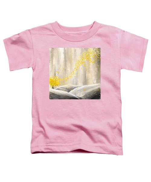 Yellow And Gray Landscape Toddler T-Shirt