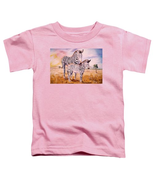 Zebra And Foal Toddler T-Shirt