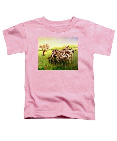 Zebras At Ngorongoro Crater Toddler T-Shirt