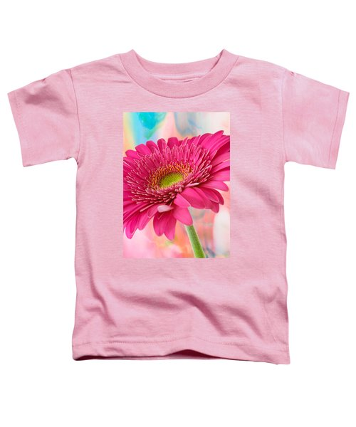 Gerbera Daisy Abstract Toddler T-Shirt