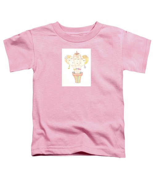 Toddler T-Shirt featuring the painting Flower Pot Ladies by Nareeta Martin