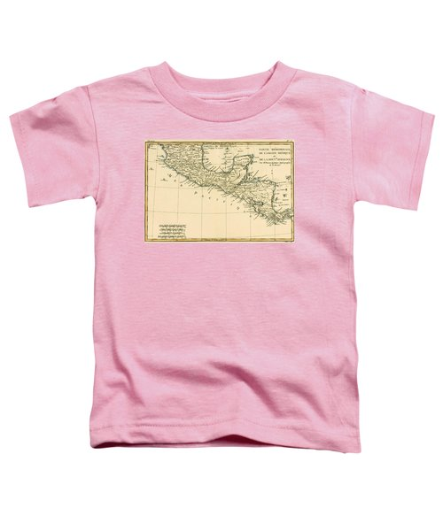 Antique Map Of Southern Mexico Toddler T-Shirt