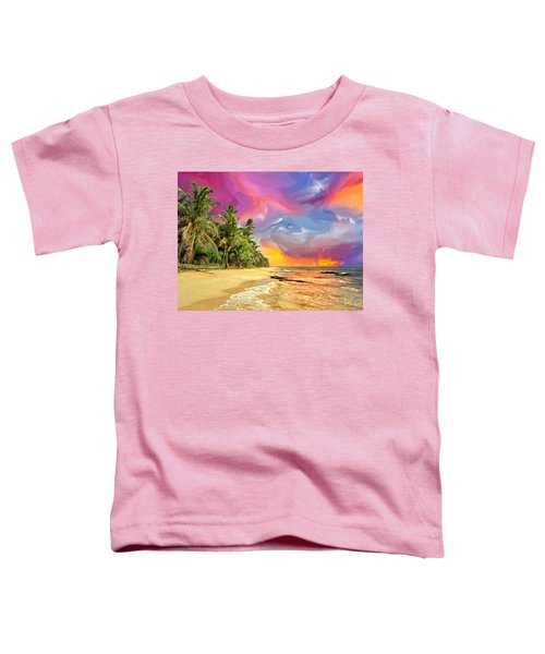 Bali Beach Sunset Toddler T-Shirt